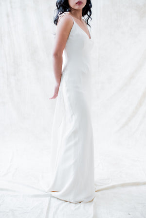 Silk 1930s-Inspired Silk Chiffon Bias Cut Gown - XS/S