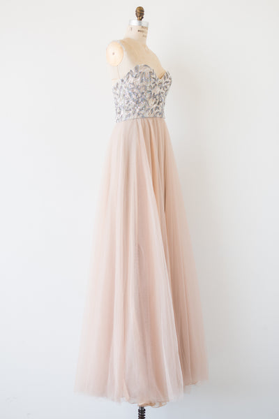 RENTAL Reem Acra Tulle Sweetheart Gown - S