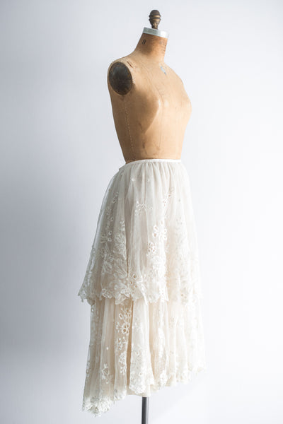 Antique Tambour Skirt - M