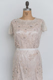 1980s Light Pink Beaded Gown - M/L
