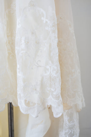 1970s Lace Tulle Gown - S/M