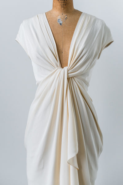 Modern Silk Twisted Gown - XS