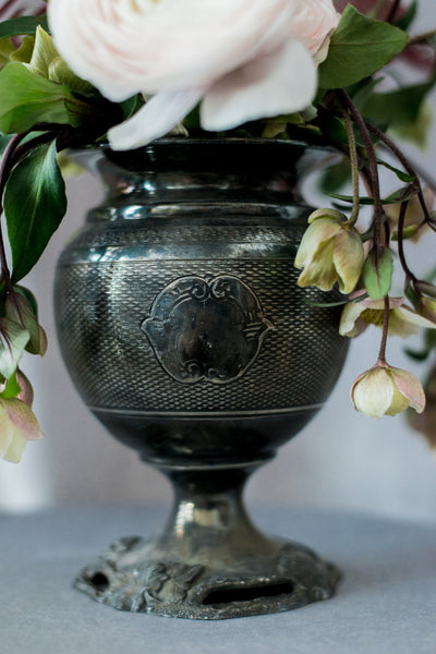 Antique Metal Engraved Vase