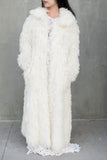 Vintage Ivory Long Shaggy Coat - M/L