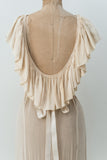 1930s Ivory Silk Sheer Gown - XS