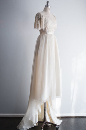 1960's Lace and Chiffon Gown - S/M