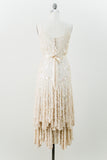 1980s Silk Sequined Dress - M