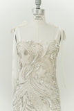 1980s Silk Caviar Pearl Bugle Beaded Dress - S