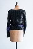 1980s Sequined Sweater - M