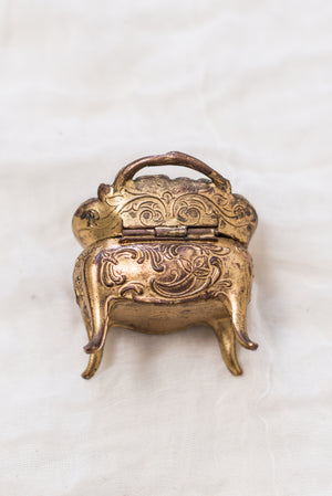 Antique Bas-Relief Trinket Box