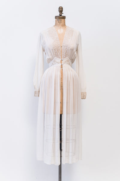 1930s Silk Dressing Gown - XXS