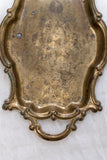 Small Ornate Antique Brass Tray