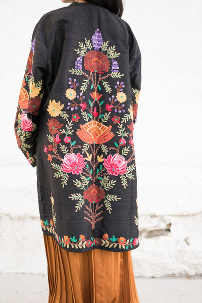 1970s Embroidered Jacket - M