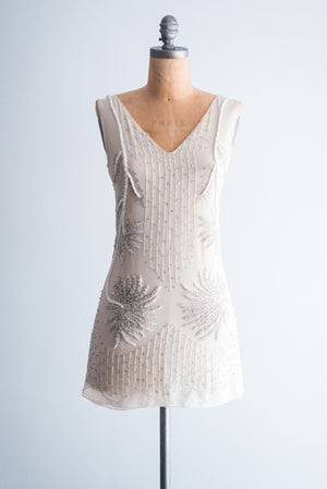 Alberta Ferretti Silk Chiffon Beaded Mini-Dress - XS/S