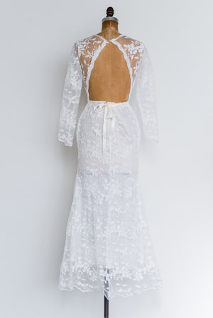 Embroidered Lace Gown - S/M