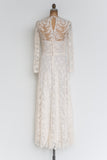 Vintage Sheer Silk Lace Gown - S