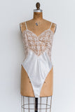Vintage Lace and Satin Romper - M/L