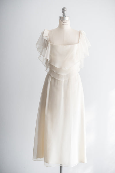 Vintage Chiffon Dress - S