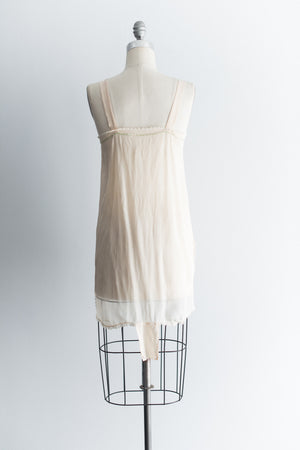 1920s Silk Crepe Flapper Step-In - S