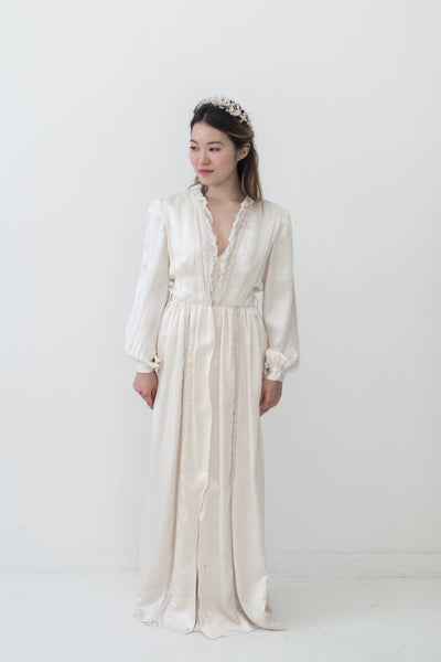 1940s Silk Dressing Gown - XS/S