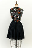 1950s Silk Chiffon Beaded Mini-Dress - XS