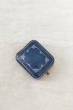 Vintage Blue and Silver Ringbox