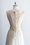 1950's Linen and Tulle Gown - XS/S