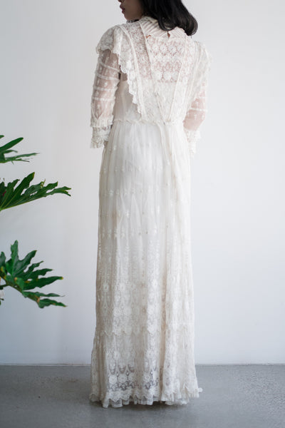Victorian Embroidered Gown - S