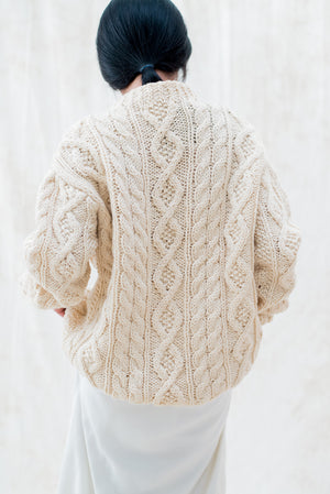 Vintage Chunky Wool Knit Sweater - M/L