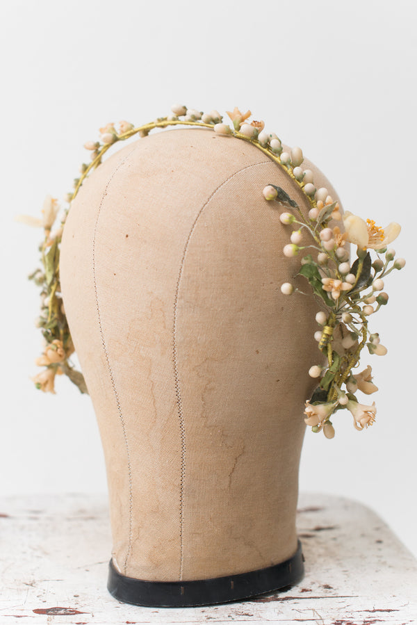 1920s Detailed Wax Tiara/Crown - One Size