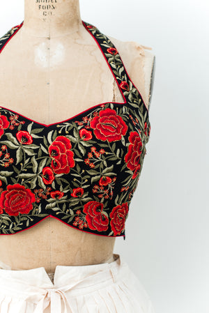 Rare Vintage Embroidered Top - XS/S