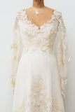 Vintage Embellished Tulle Wedding Gown - S