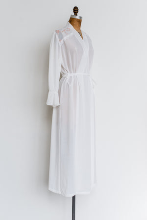 Vintage Chiffon Dressing Gown - One Size