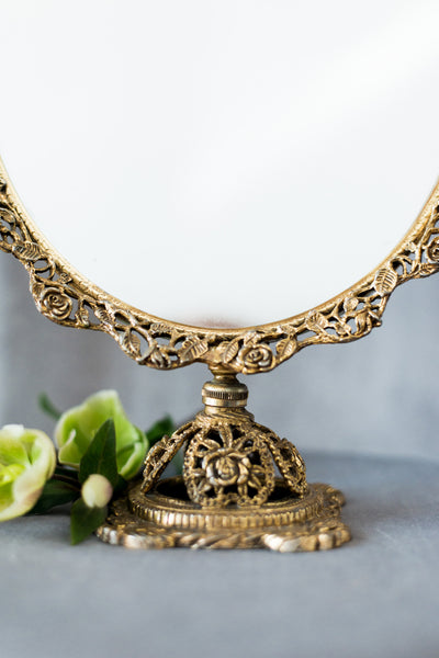 Vintage Ornate Vanity Mirror