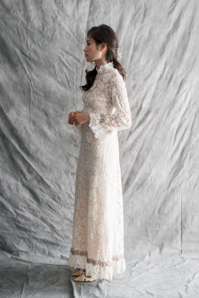 1960s Sheer Lace Gown - S/M