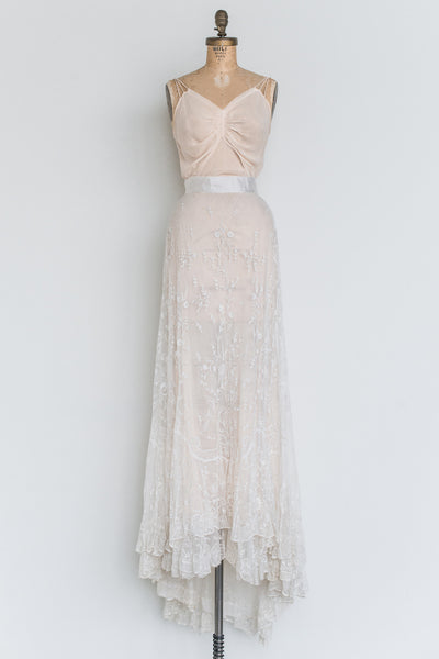 RESERVED Edwardian Lace Skirt - M