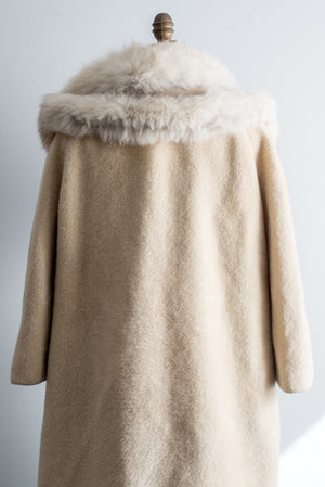 1950s Wool Fox Fur Lilli Ann Paris Coat - M/L