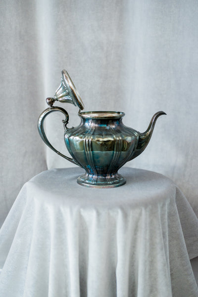 Medium Vintage Pewter Pitcher