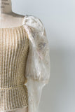 Lace and Knit Top - S/M