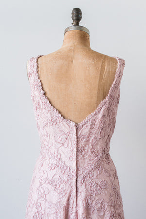 1950s Corded Lace Gown - M/L