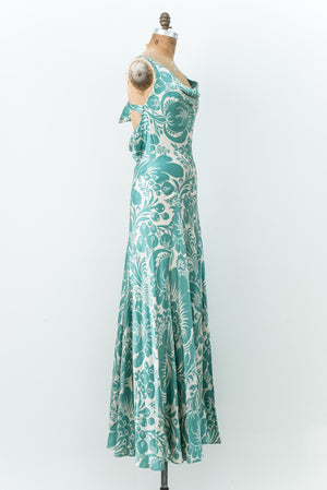 Diane Von Furstenberg Long Hammered Silk Bias Cut Gown - S