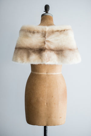 Rare 1950s Striped Blonde Mink Wrap - One Size