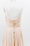 1950s Ivory Silk Chiffon Dress - S/M