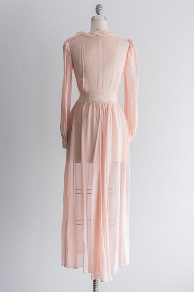 1940s Pink Dressing Robe - S
