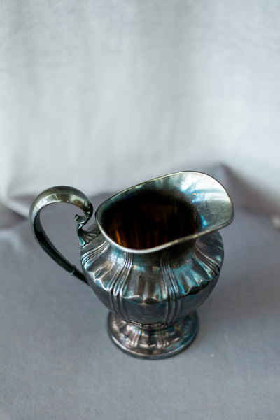 Small Vintage Pewter Pitcher