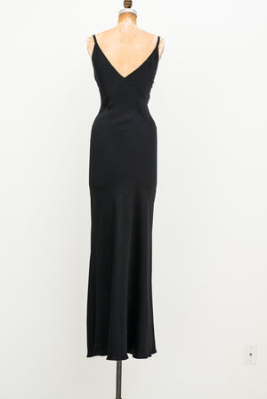 1990s Prada Plunging Silk Gown - IT 40/ US 4 XS/S