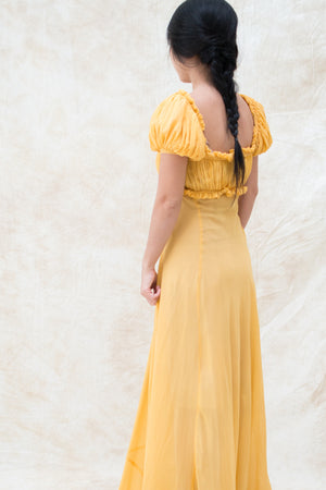 Edwardian Silk Pleated Gown - XXS/XS