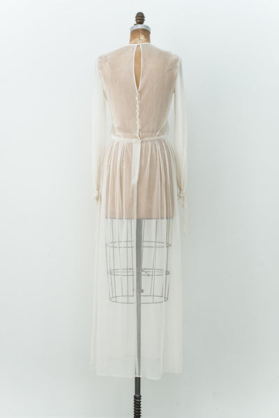 1980s Fine Net Tulle Dress - M