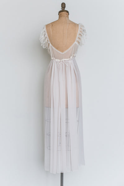 Vintage Chiffon and Lace Slip Gown - S/M