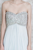 Marchesa Baby Blue Crystal Encrusted Silk Gown - US 2/4